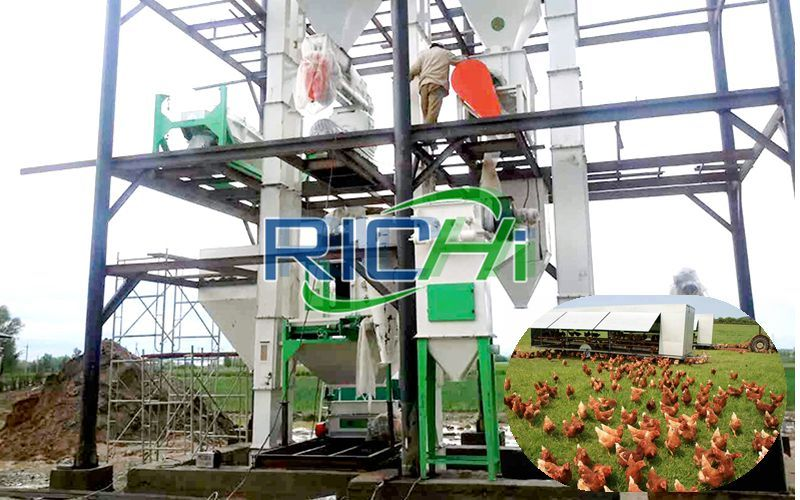 Uzbekistan 3-5 T/h Medium Scale Automatic Poultry Feed Line Manufacturer Project