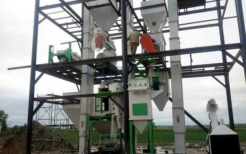 Project installation of feed pellet production line