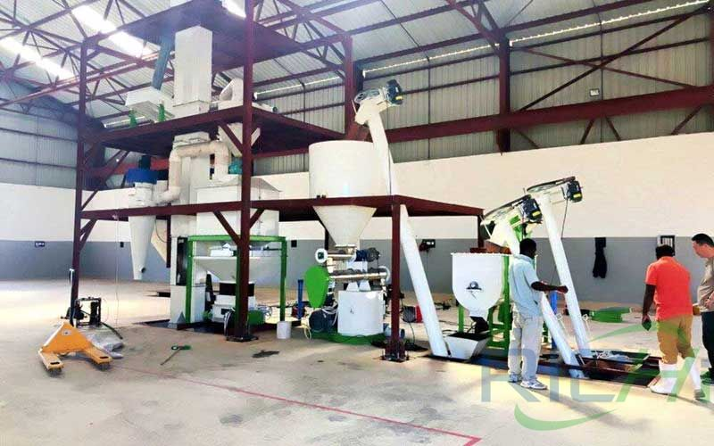 Installation site of 2t/h animal feed pellet production line in Cape Verde