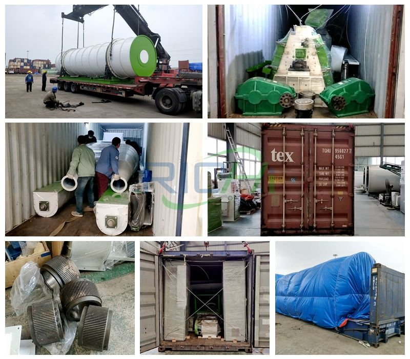 Delivery site of feed wood pellet machinery and equipment