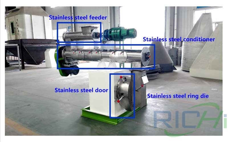 1-2t/h chicken feed pellet mill