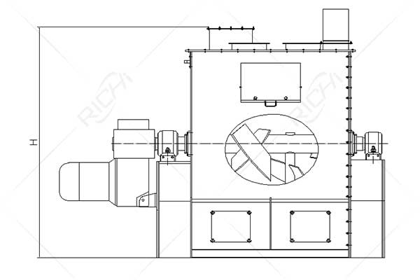 SLHJ Single Roller Double Paddle Mixer