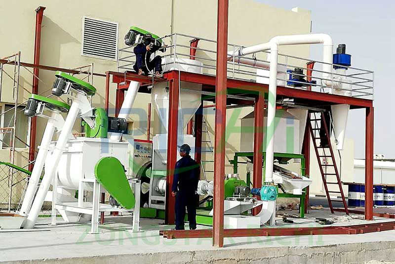 3-4 tph feed pellet production line