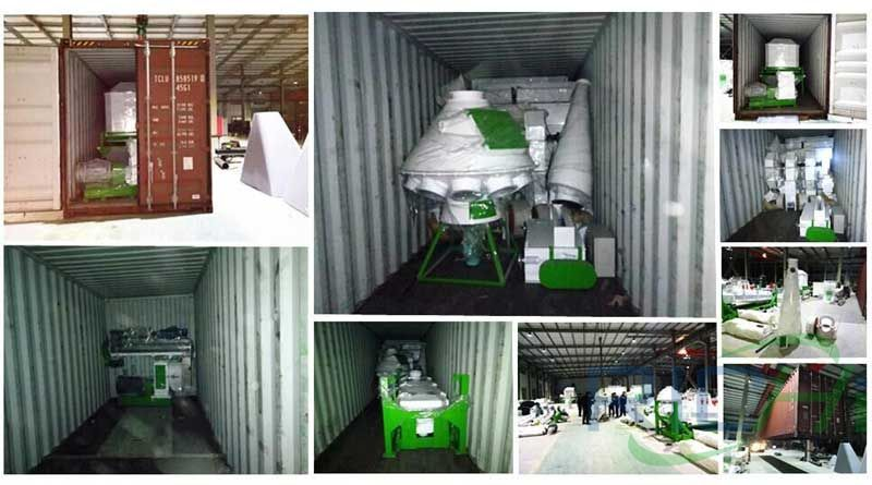 Shipment of equipment exported to Palestine feed mill