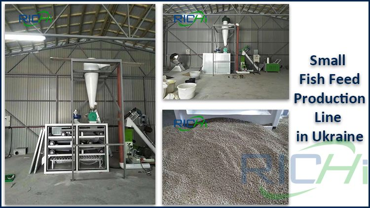 100-150KG/H Small fish feed line has been installed in Ukraine