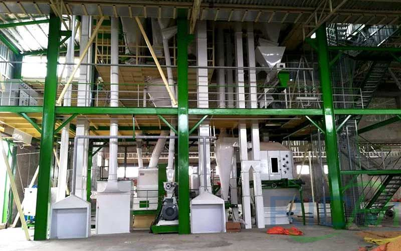 5-7 Tph Poultry Feed Pellet Production Line