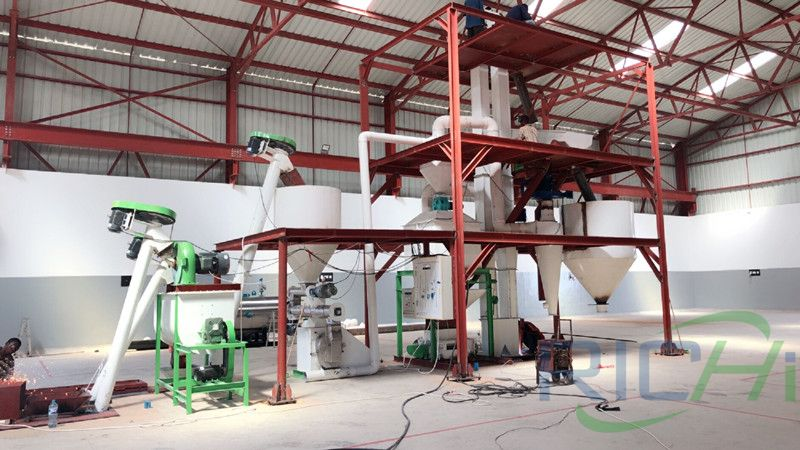 Tanzania 2tph chicken feed pellet mill line project