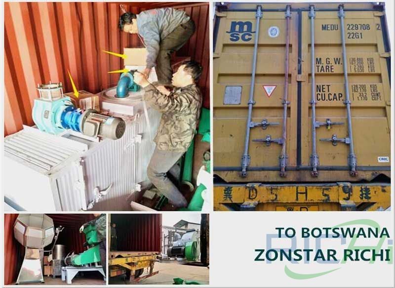 Botswana 100-150kg/H Floating Fish Feed Line delivery site