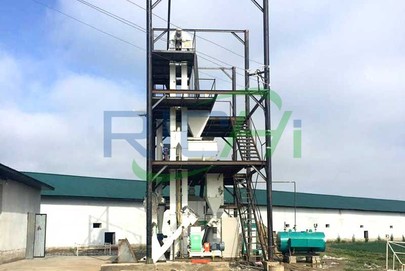 Senegal 3-5T/H Chicken Feed Pellet Line