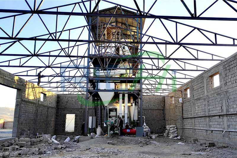 Uzbekistan 3-5T/H chicken Feed Pelleting System