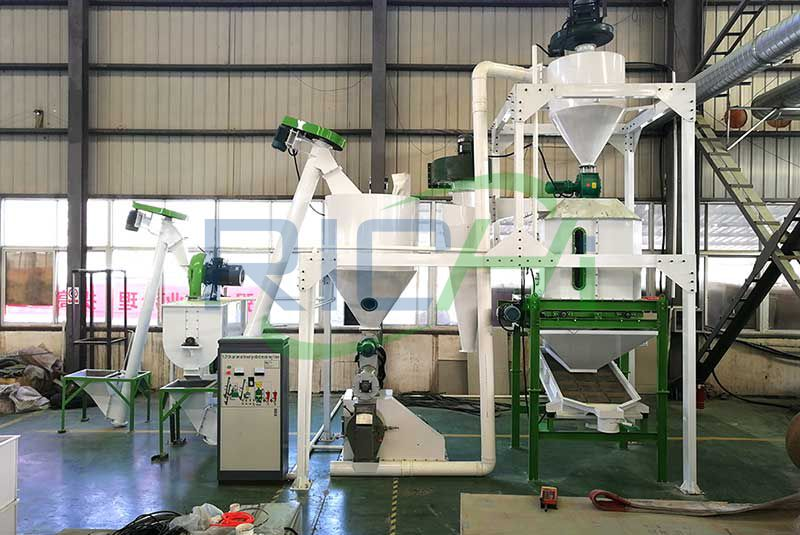 1-2 tph feed pellet production line