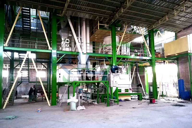 8-12 tph feed pellet production line