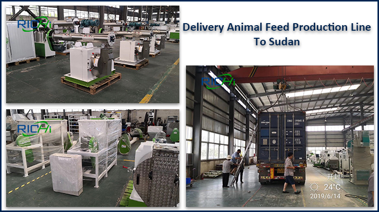 Delivery complete 1-2T/H Poultry feed line to Sudan