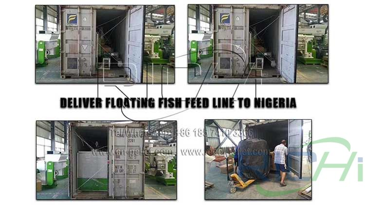 Nigerian floating fish feed line has been shipped
