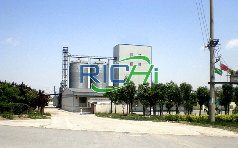 Uzbekistan 10-15 TPH Chicken Mud Feed and Pellet Production Line With Silo Storage System Project